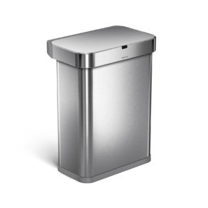 Simplehuman voice activated trash can